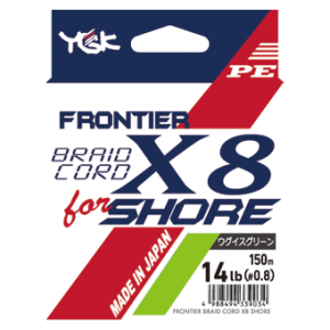 Japońska plecionka YGK FRONTIER BRAIDCORD X8 for SHORE, 150m