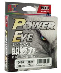 Braid line POWER EYE WX8, system MARKED, od 14 do 35lb, 200m, 8 splotów